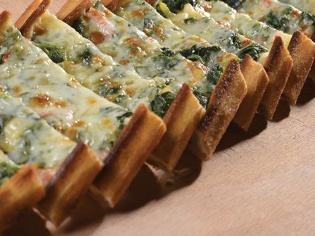 Spinach & Ground Beef Pide